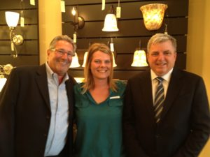 Lee Nemeth and John Sena of ELK Group International warmly welcome LeAnn Day of Lighting One