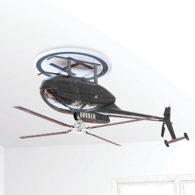 Raffaele annello-Upside down helicopter Ceiling Fan