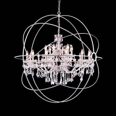 Art Deco Crystal Chandelier - Elegant Lighting