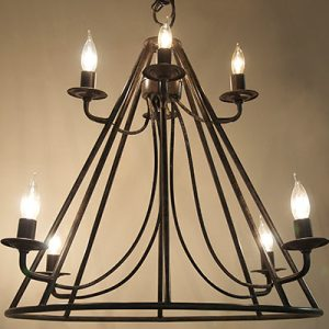 Las Vegas Market 2014 - Noir Lighting:  8-light Estella Chandelier