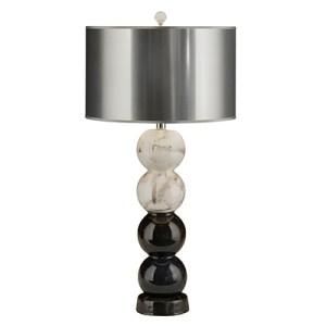 "Las Vegas Market 2014 - Thumprints: 31""-high Raven Table Lamp"