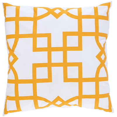 Allem Maze Orange Pillow-Home Decore Under 99 Dollars