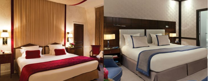 Hôtel Royal Barrière Bedroom Suites.