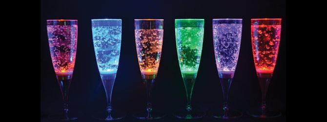 Holiday Decorating Ideas-Light LED glasses