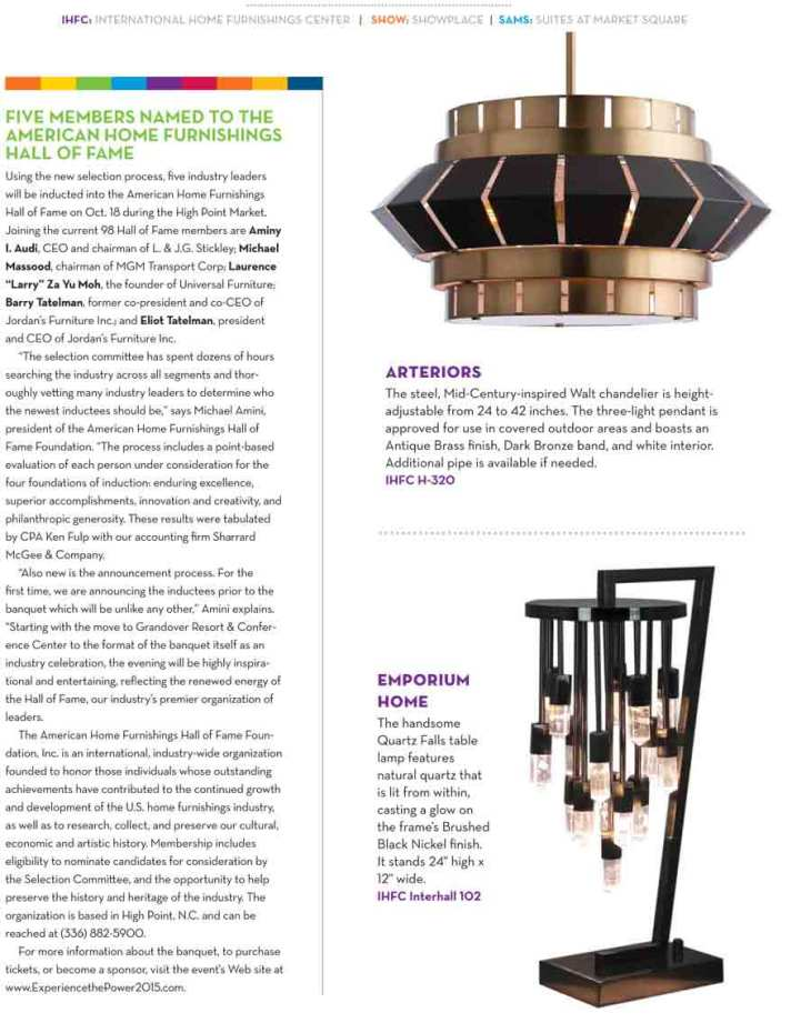 High Point 2015 Lighting Style Guide