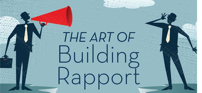 how to say build customer rapport