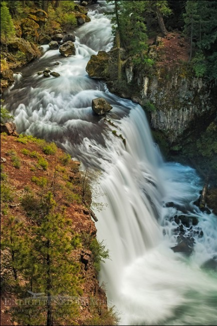 Image: Middle McCloud Falls, McCloud River, Shasta-Trinity National Forest, Siskiyou County, California