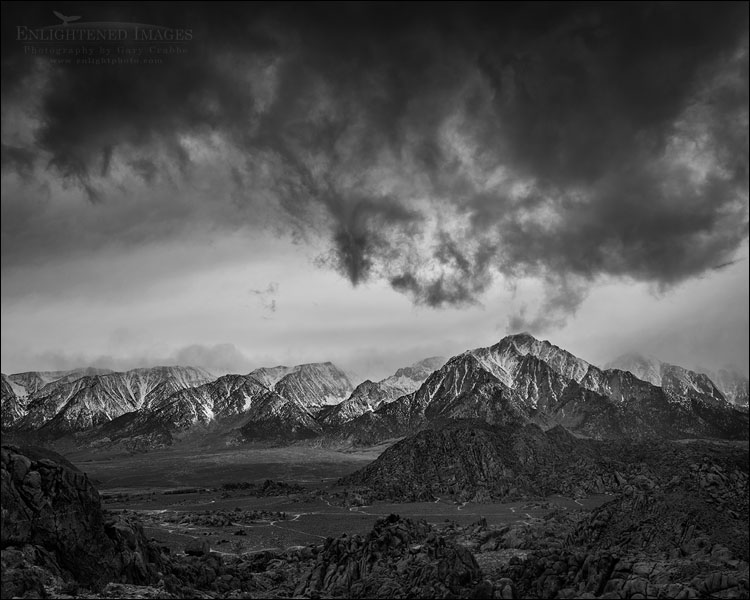Image: Storm clouds over Lone Pine Peak and the Alabama Hills, Inyo County, Eastern Sierra, California
