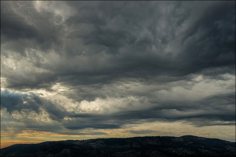 Image: Storm clouds building on a fall afternoon over Yosemite National Park, California