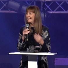 Helen Calder Preaching