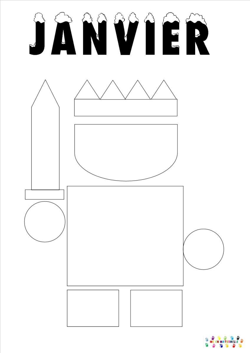 Le tout petit roi page du mois de janvier mc en maternelle - Coloriage tout petit ...