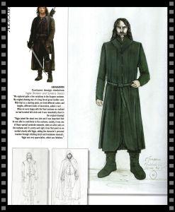 Cómo vestir a tu héroe: bocetos de Aragorn