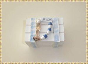 Productos de papelería a buen precio en Bratislava: Cajita de madera con motivos marineros