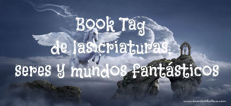Book tag de las criaturas, seres y mundos fantásticos: pegaso sobre montañas