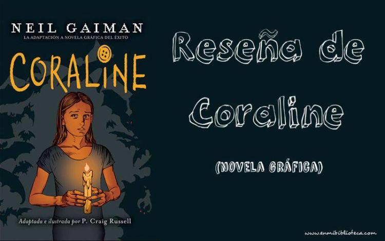 Reseña de Coraline (novela gráfica): cubierta