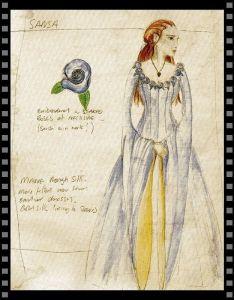 Cómo vestir a tu secundaria II: boceto de vestuario de Sansa