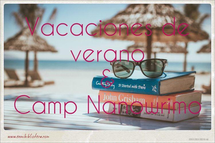 Vacaciones de verano & Camp Nanowrimo: libros en una playa