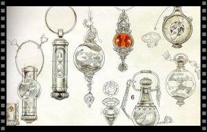 Cómo diseñar tu objeto especial: bocetos del Giratiempo