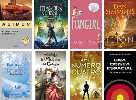 Cubiertas de los ocho libros elegidos