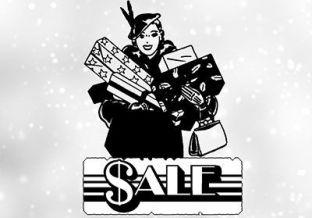 Mujer comprando libros rebajados