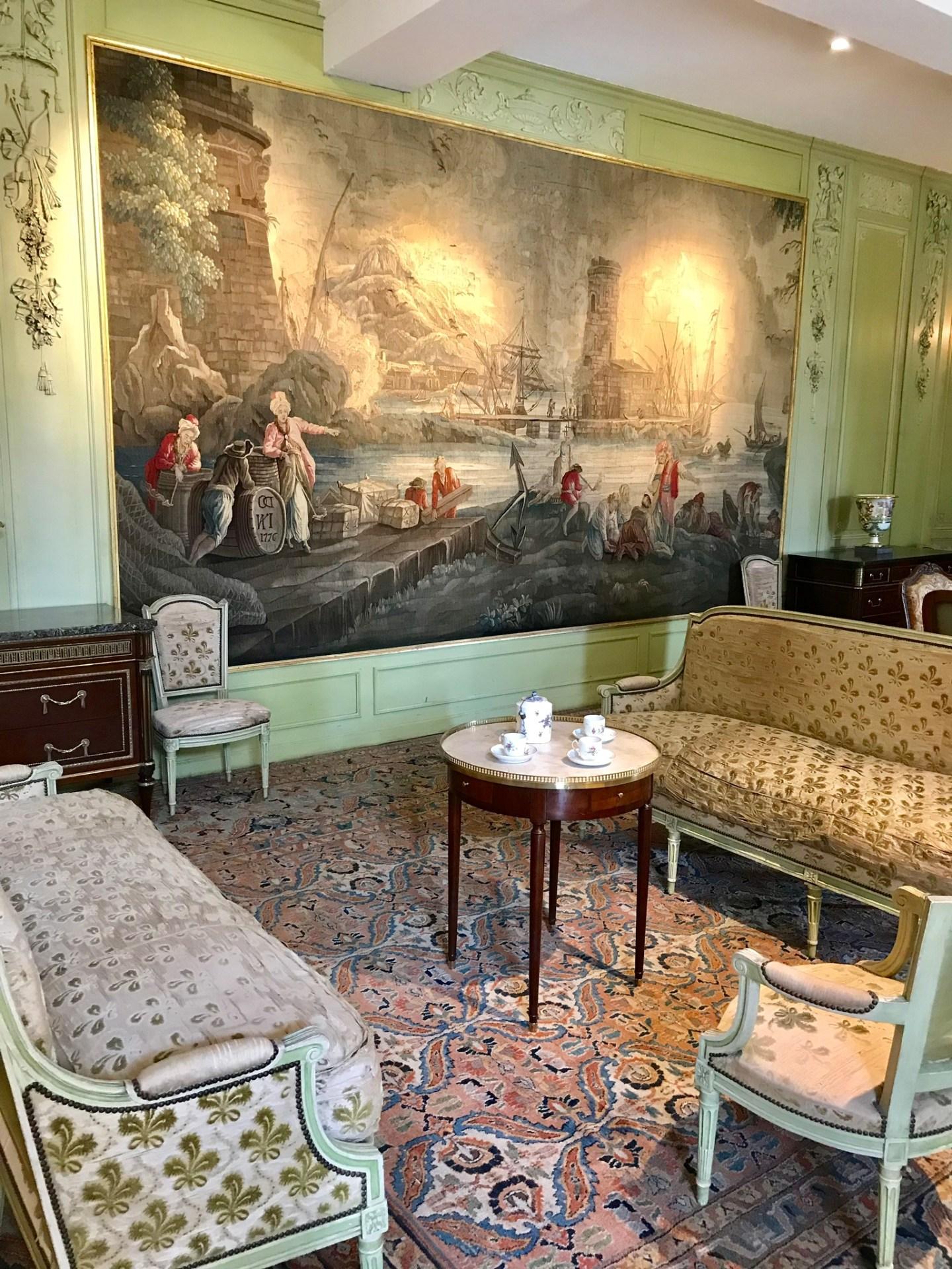 château de Laàs musée Serbat Salon