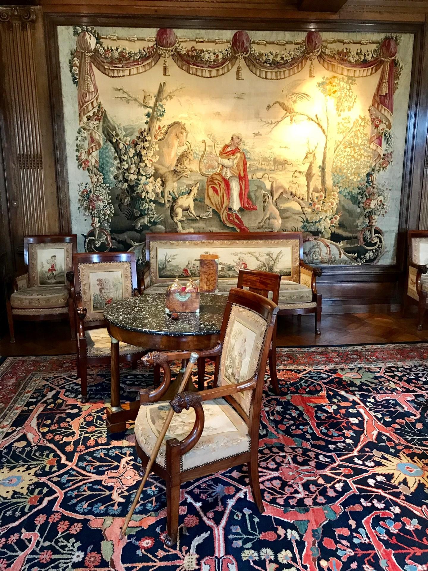 château de Laàs musée de Serbat salon