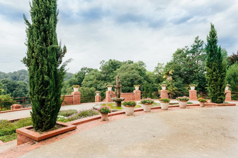 château de Laàs jardin à l'italienne