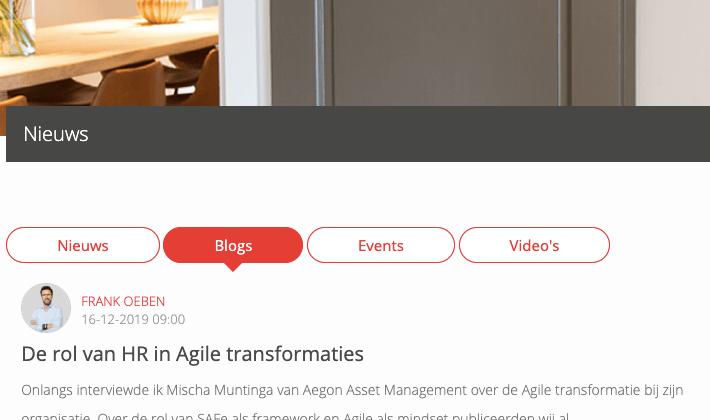 Over de rol van HR in Agile transformaties