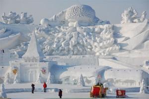 Festival de sculptures en glace et neige de Harbin, en Chine