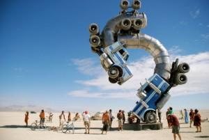 L'homme Brûlant , Black Rock Desert , Nevada , Etats-Unis
