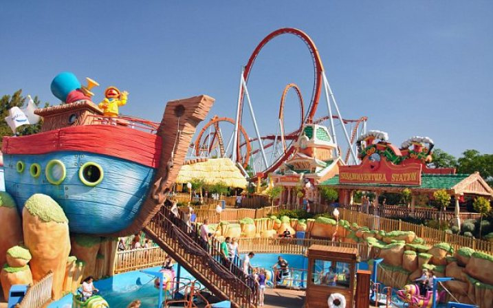 C88E7F SesamoAventura attraction, PortAventura Theme Park, Salou, Costa Daurada, Province of Tarragona, Catalonia, Spain. Image shot 2011. Exact date unknown.