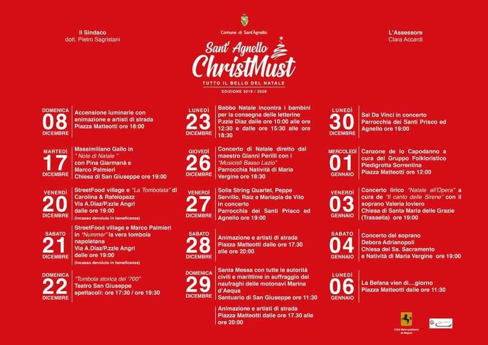 Sant'Agnello: programma natalizio