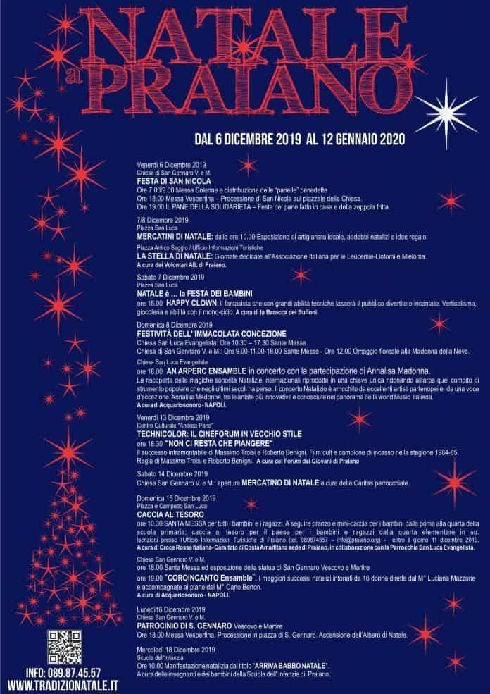 Natale 2019 a Praiano programma