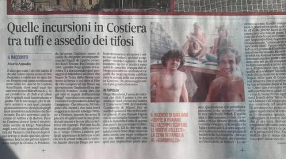 """Minori, la visita di Diego Armando Maradona al Ristorante Pizzeria """"Giardiniello"""""""