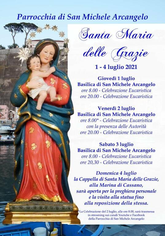 Piano di Sorrento, il programma per la festività della Madonna delle Grazie di Marina di Cassano