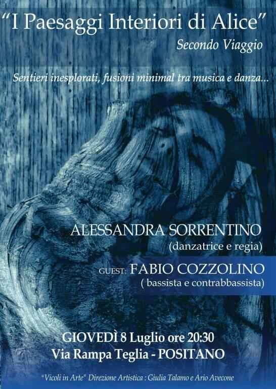 """Positano, continua il viaggio di """"I Paesaggi Interiori di Alice"""" con Alessandra Sorrentino e Fabio Cozzolino"""