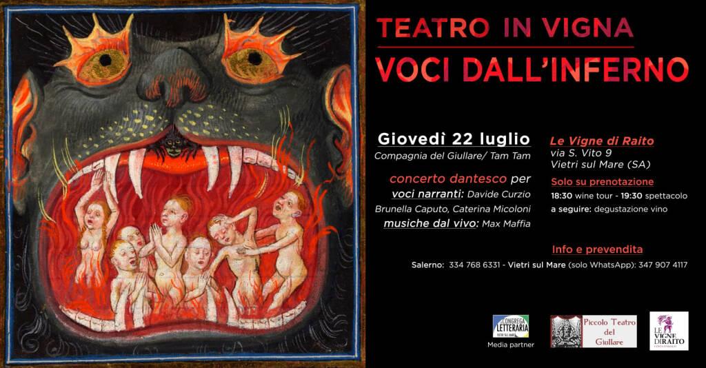 Teatro in Vigna a Vietri sul mare con Dante