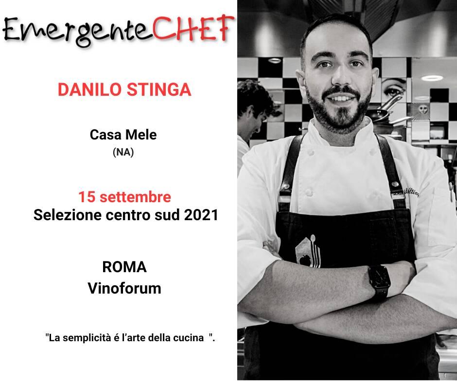 Da Positano Danilo Stinga al Premio Chef Emergente 2021