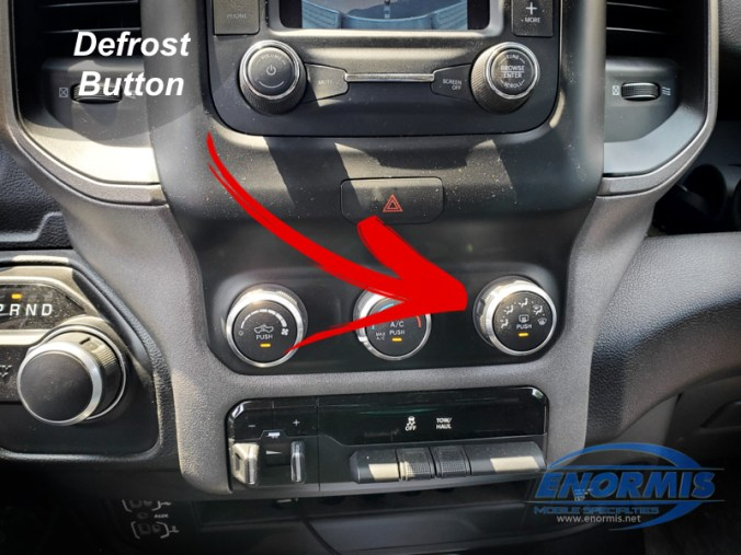 2019 RAM 2500 New Body Defrost Button for Tow Mirrors
