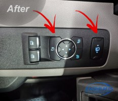 2020 Ford F-350 Mirror Switch Panel After