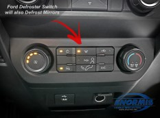 Defrost Switch will Also Defrost the Mirrors