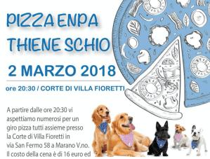 Pizza ENPA Thiene Schio 2 marzo 2018 a Corte di Villa Fioretti