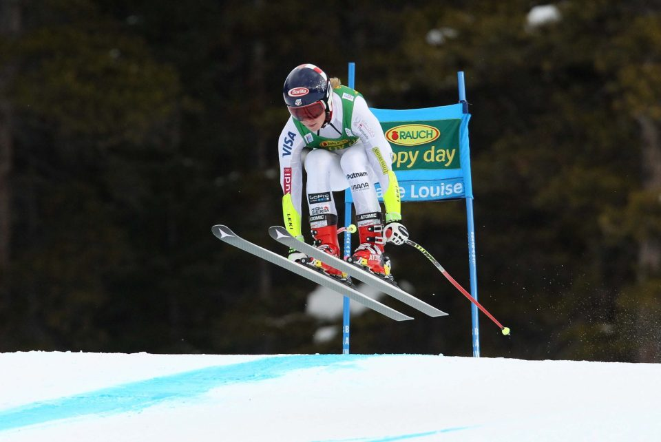 LAKE LOUISE,CANADA,06.DEC.15 - ALPINE SKIING - FIS World Cup, Super G, ladies. Image shows Mikaela Shiffrin (USA). Photo: GEPA pictures/ Mario Kneisl