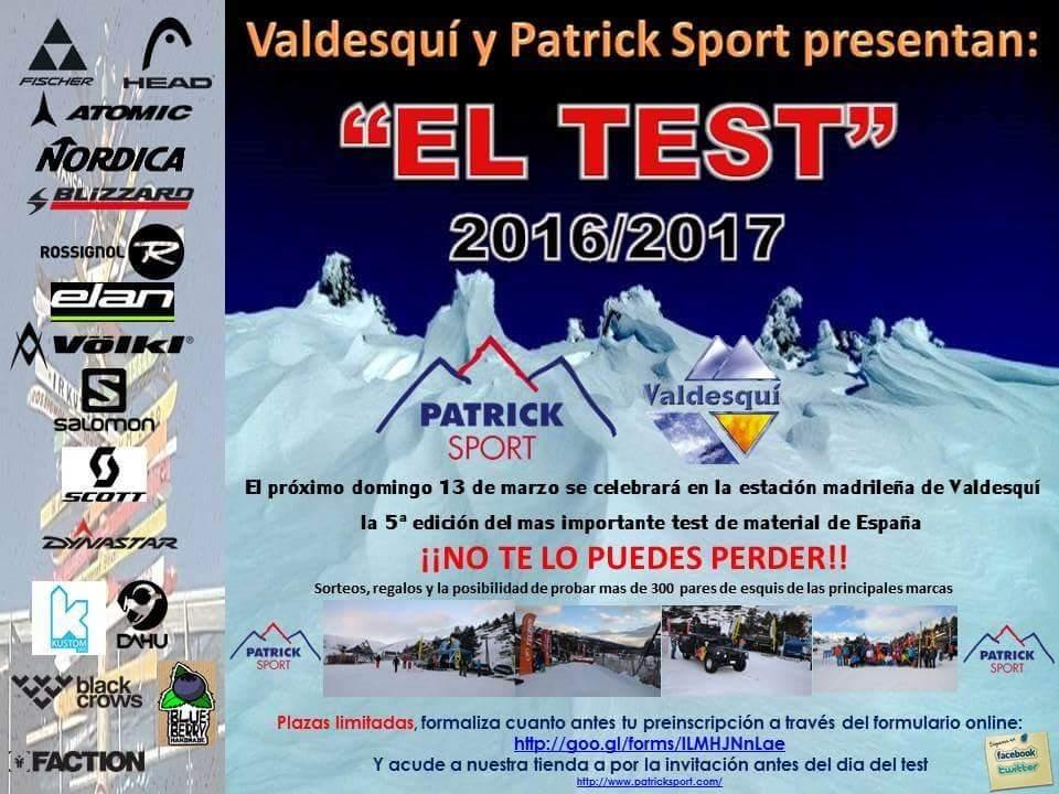 test, esquis, skis, patrick, sport, valdesqui, 2016, enpistas.com