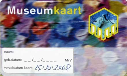 Gechunchantarjeta para los museos holandeses.
