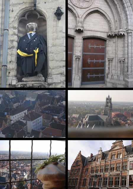 Brujas tiene la fama que merece (las vistas aéreas están hechas desde la torre del reloj).