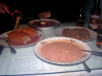 Ejemplo de comida tipica polaca.