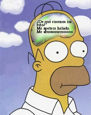 Homer viendo la obra