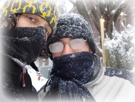 Diciembre + Montreal + tormenta de nieve = Te cagas de frío