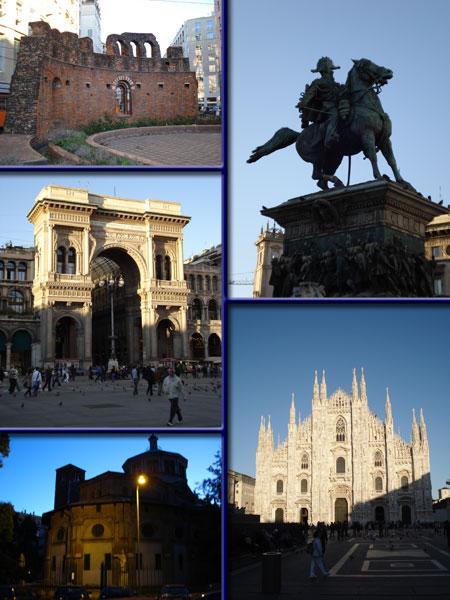 30 minutos de turismo en Milán al anochecer.